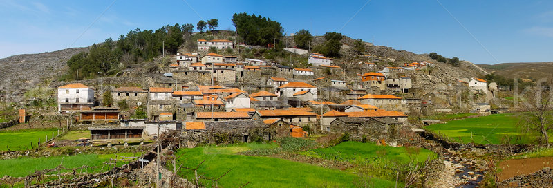 Old moutain village in Portugal Stock photo © homydesign