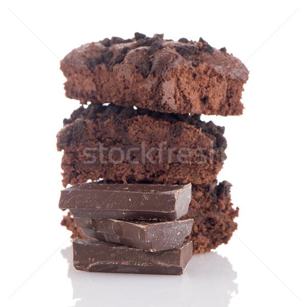 Chocolate brownies Stock photo © homydesign