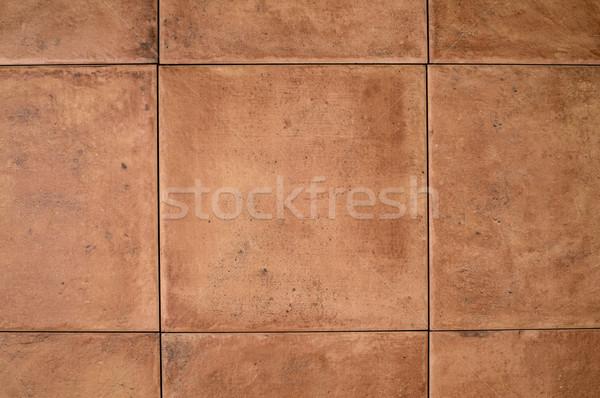 Ocher stone tile wall  Stock photo © homydesign