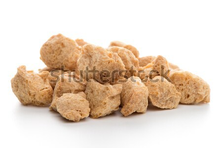 Soya chunks on white Stock photo © homydesign