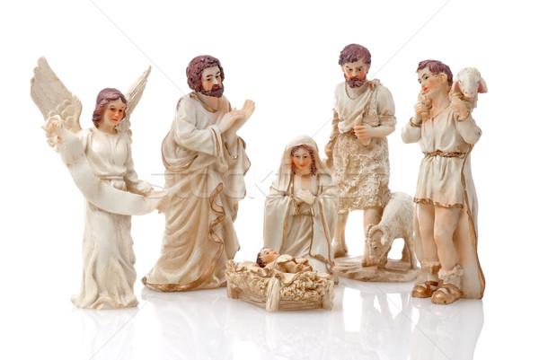 Рождества изолированный белый семьи фон Сток-фото © homydesign