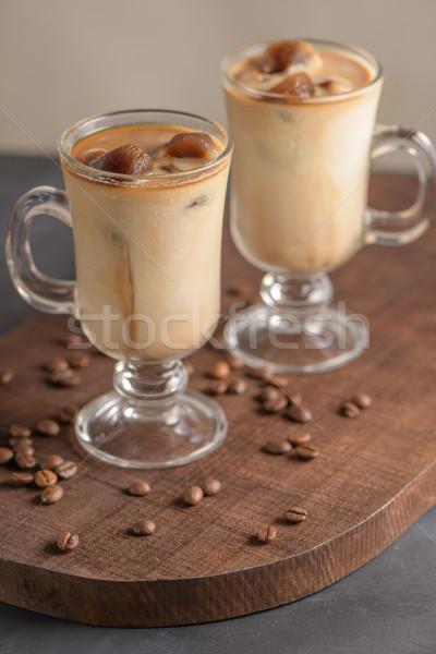 Ghiacciato caffè vetro cioccolato estate cafe Foto d'archivio © homydesign