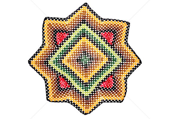 Hand made crocheted doily Stock photo © homydesign