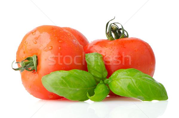 食品 材料 トマト バジル 葉 孤立した ストックフォト © homydesign