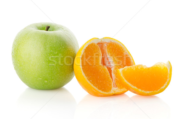 Apple and orange Stock photo © homydesign