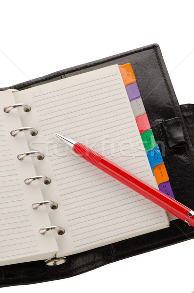 Note book and pencil Stock photo © homydesign