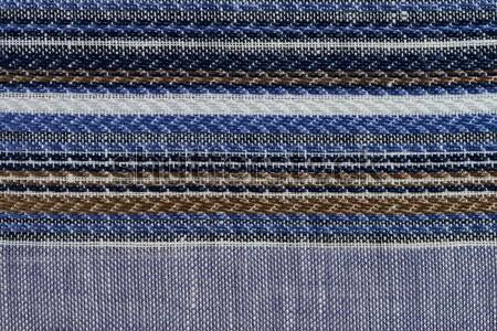 Stok fotoğraf: Mavi · kumaş · doku · soyut · arka · plan