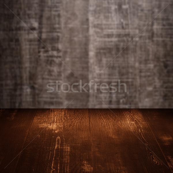 Ahşap tablo ahşap duvar doku ağaç Stok fotoğraf © homydesign