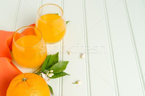 Freshly squeezed orange juice  Stock photo © homydesign