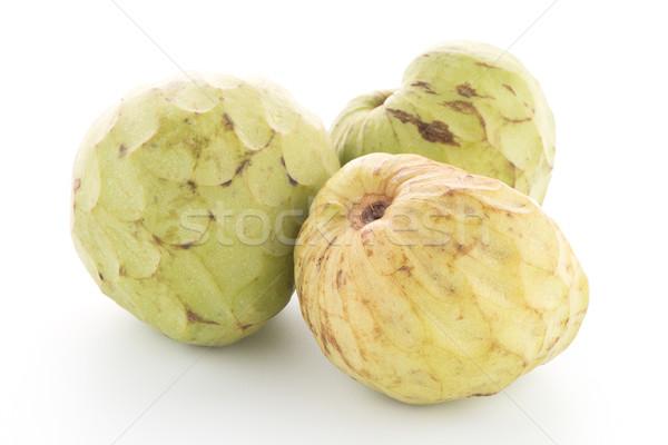 Vers vla appel geïsoleerd witte blad Stockfoto © homydesign
