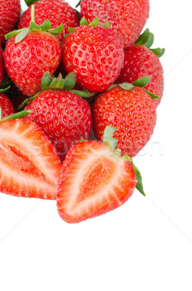 Apetitoso fresas blanco alimentos frutas fresa Foto stock © homydesign