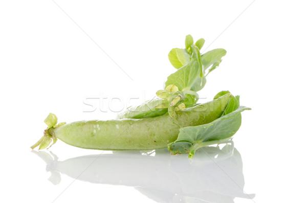 Fresh green pea pod Stock photo © homydesign