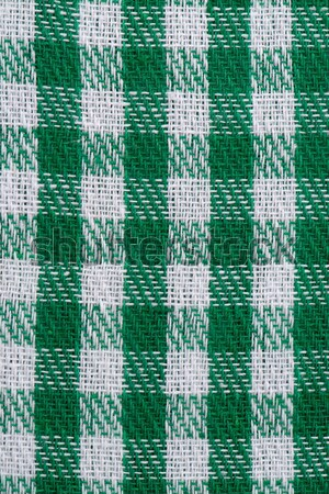 Green checked fabric Stock photo © homydesign
