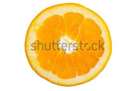 Rodaja de naranja macro aislado blanco luz semillas Foto stock © homydesign