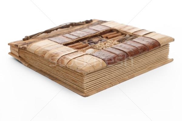 Handcrafted picture album Stock photo © homydesign