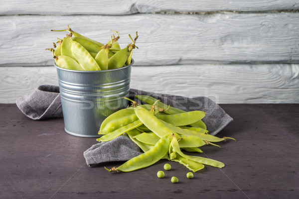 Green Sugar Snap Peas Stock photo © homydesign