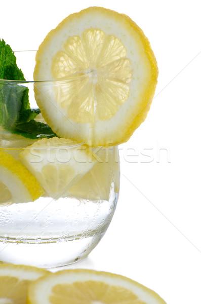 Glass of fresh cool tonic Stock photo © homydesign