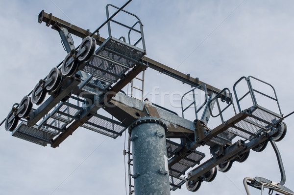 Mast of a chairlift Stock photo © homydesign