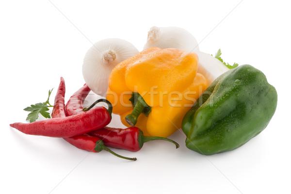 Foto stock: Mediterráneo · hortalizas · rojo · chile · pimientos · perejil