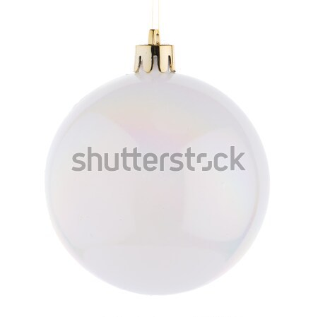 White Christmas bauble Stock photo © homydesign