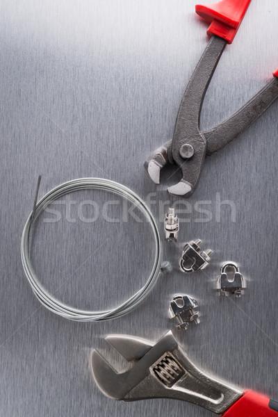 Stock fotó: Szerszám · drótok · fém · befejezés · munka · technológia