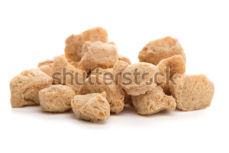 Soya chunks on white Stock photo © homydesign