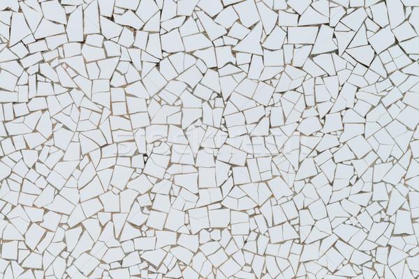 White broken tiles wall Stock photo © homydesign