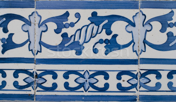 Portuguese glazed tiles 211 Stock photo © homydesign