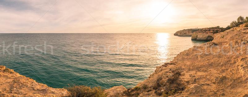 Benagil Beach in Algarve Stock photo © homydesign