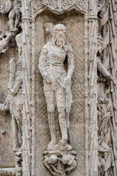 скульптуры каменные святой Церкви закрывается красоту Сток-фото © homydesign