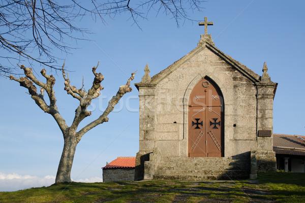 Calvary Chapel, Belmonte - Portugal Stock photo © homydesign