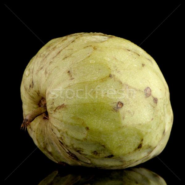 新鮮な カスタード リンゴ 孤立した 黒 葉 ストックフォト © homydesign