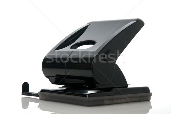 черная дыра изолированный белый бумаги черный цвета Сток-фото © homydesign