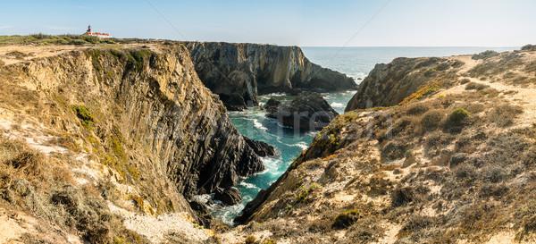 Klif oceaan kust water muur natuur Stockfoto © homydesign