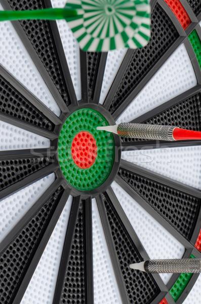 Dart boord darts sport groene Stockfoto © homydesign