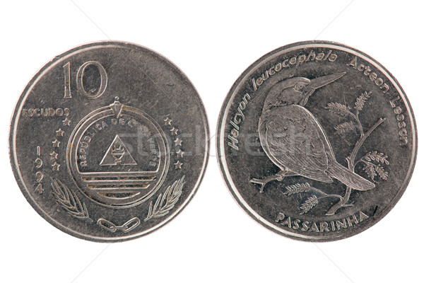 10 Escudos Coin from Cape Verde Stock photo © homydesign