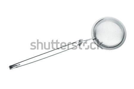 ストックフォト: 茶 · 孤立した · 白 · キッチン · 鋼 · ホット