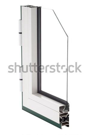 Alumínium ablak minta izolált fehér otthon Stock fotó © homydesign