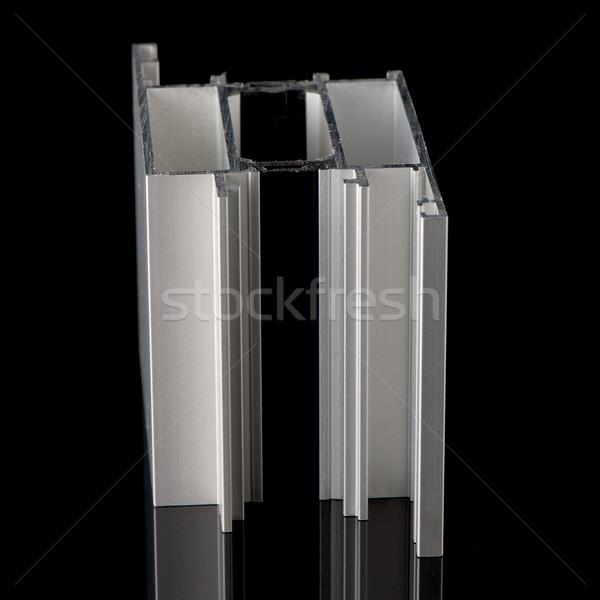 алюминий профиль образец изолированный черный здании Сток-фото © homydesign