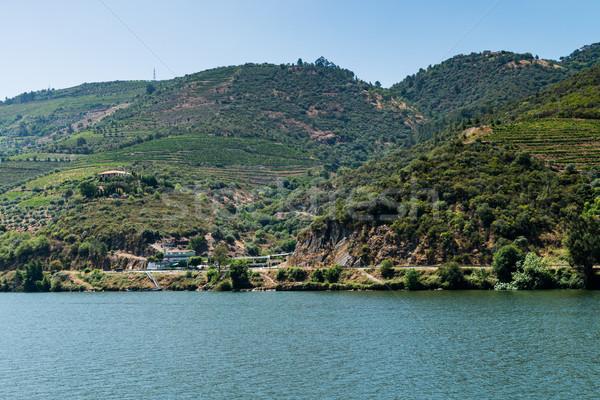 Görmek vadi Portekiz tepeler gökyüzü su Stok fotoğraf © homydesign