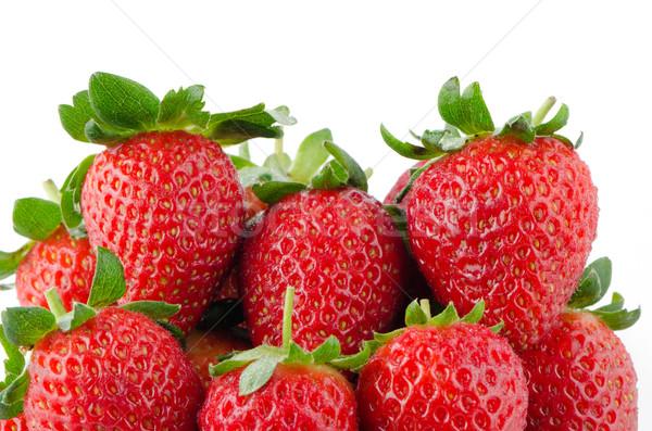 食欲をそそる イチゴ 白 フルーツ 背景 イチゴ ストックフォト © homydesign