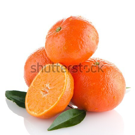 Vers witte vruchten oranje groep Stockfoto © homydesign