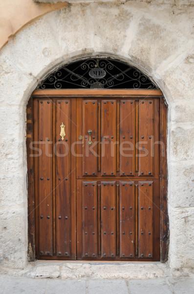 Edad entrada puerta edificio arquitectura Foto stock © homydesign