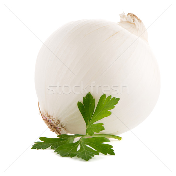 Stock photo: Onion and parsley
