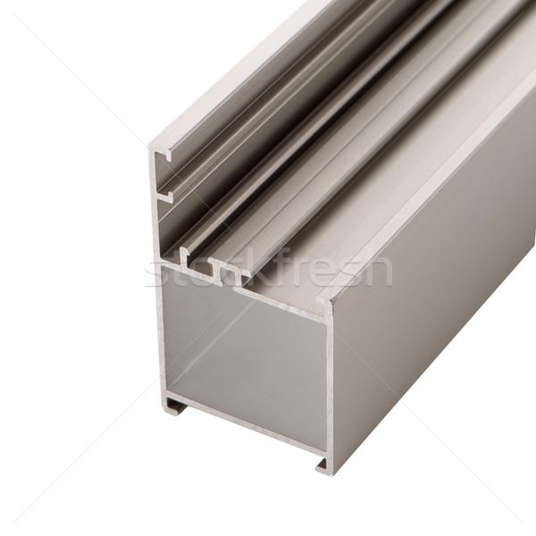 Alluminio profilo isolato bianco metal bar Foto d'archivio © homydesign