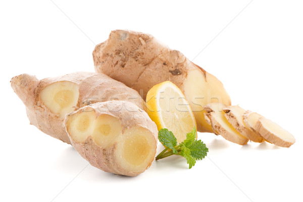 Ginger root on white Stock photo © homydesign