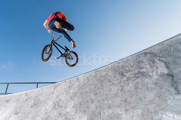 BMX Bike Stunt Table Top Stock photo © homydesign