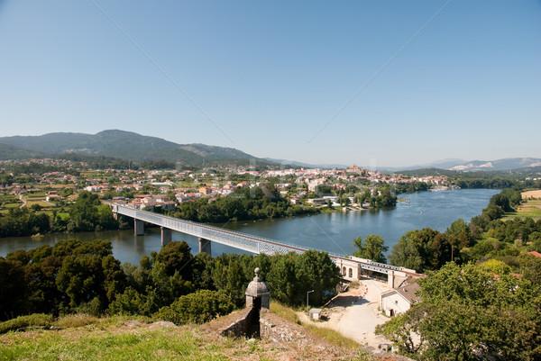 Rivier Portugal Spanje internationale brug gewrichten Stockfoto © homydesign