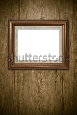 Eski resim çerçevesi bağbozumu ahşap duvar arka plan Stok fotoğraf © homydesign