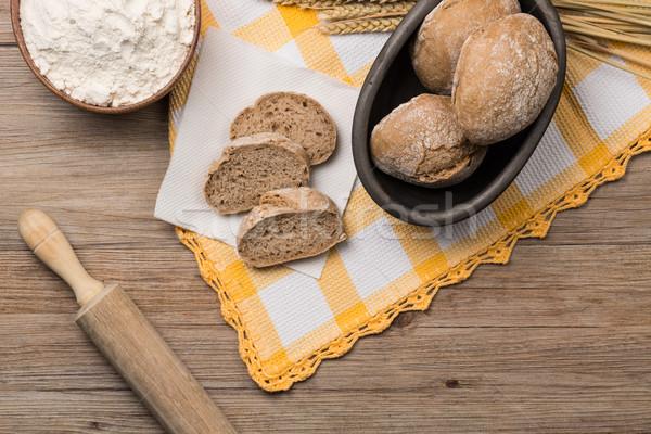 хлеб рожь старые кукурузы черный Сток-фото © homydesign